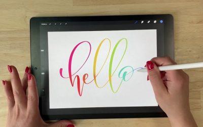 Lettering con tabletas gráficas