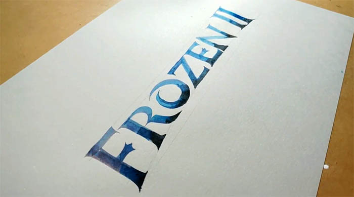 Hand lettering Frozen
