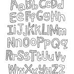 Alfabetos para imprimir y colorear