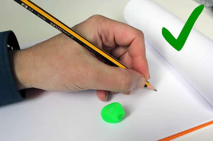Cómo sujetar lápiz zurdos