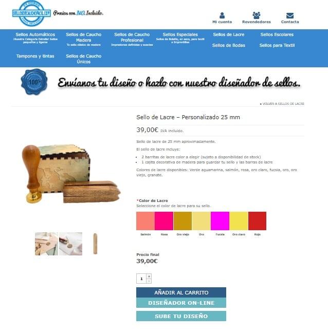 Tienda online de sellos